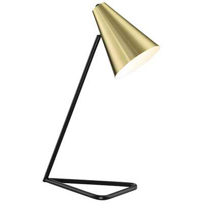 Lite Source Cooper Gold Metal Desk Lamp - Style # 69T90 - Lamps Plus