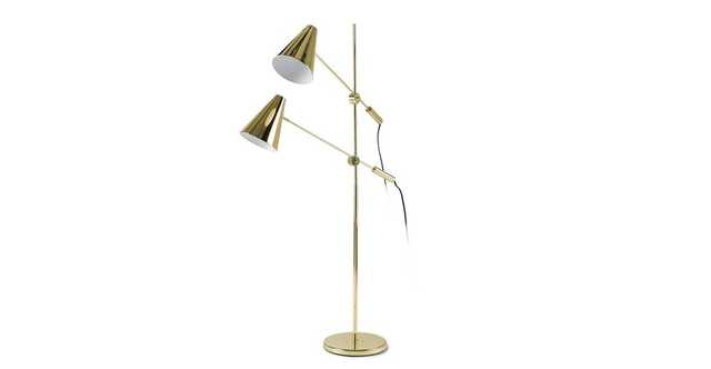 Beam Double Brass Floor Lamp - Article