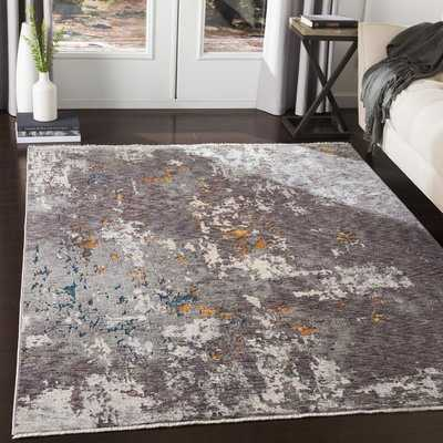 Mckeel Distressed Abstract Charcoal/Gray Area Rug - Wayfair