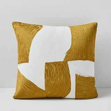 """Embroidered Geo Pillow Cover, 20""""x20"""" - West Elm"""