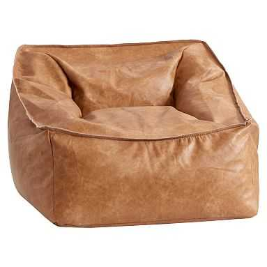 Modern Lounger, Vegan Leather Caramel - Pottery Barn Teen