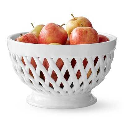 Woven Fruit Basket, White - Williams Sonoma