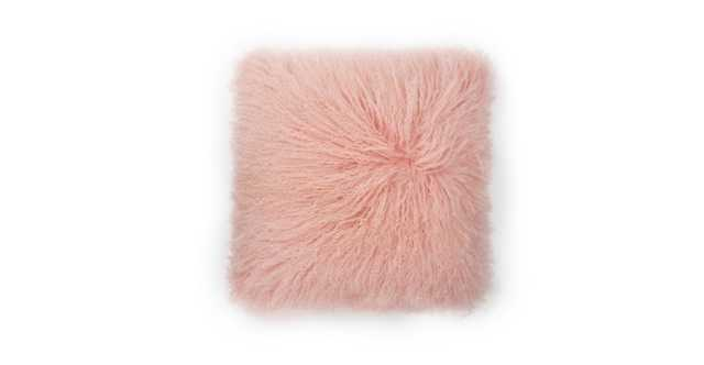 Bocco Pink Sheepskin Pillow - Article