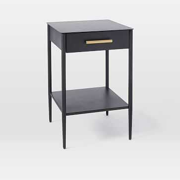 Metalwork Nightstand, Hot-Rolled Steel Finish, Antique Brass - West Elm