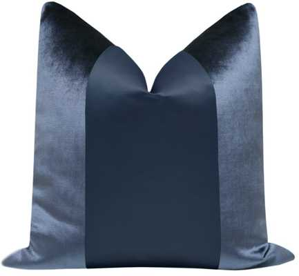 "PANEL :: Faux Silk Velvet // Prussian Blue - 20"" X 20"" - Little Design Company"
