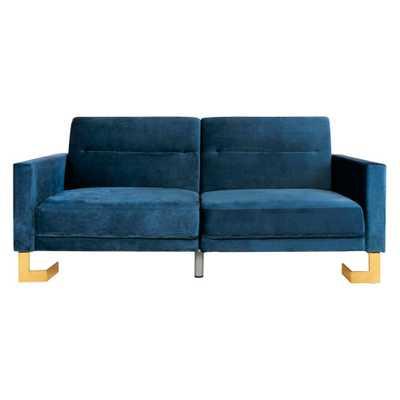 Tribeca Foldable Sofa Bed Navy (Blue)/Brass - Safavieh - Target