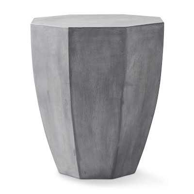 Amagansett Hexagon Outdoor Accent Table, Grey - Williams Sonoma
