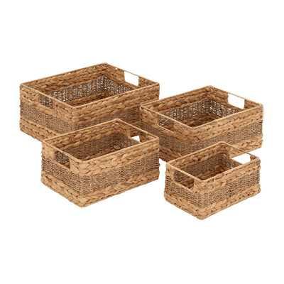 4 Piece Sea Grass Basket Set - Wayfair