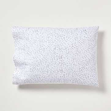 Organic Feather Texture Standard Pillowcase, Set of 2, Frost Gray - West Elm
