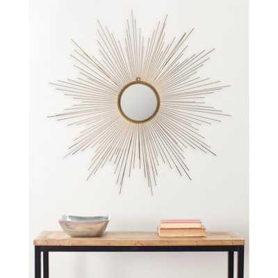 41 in. x 41 in. Iron Marinda Framed gold Mirror - Home Depot