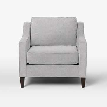 Paidge Chair, Poly, Taper Chocolate, Chenille Tweed, Frost Gray - West Elm