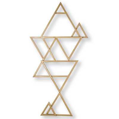 "Graham & Brown 47 in. x 24 in. ""Kaleidoscope"" Metal Wall Art, Gold - Home Depot"