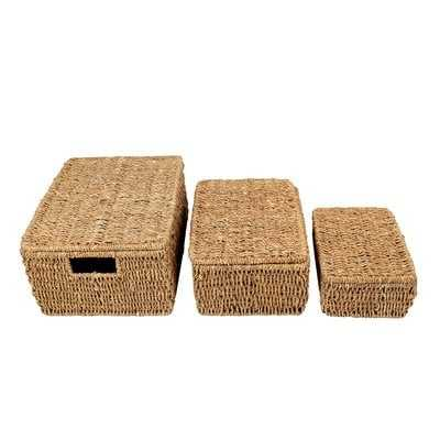 Storage Seagrass Wicker Box - Wayfair