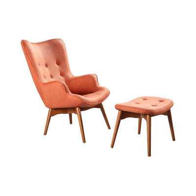 Ali  Wingback Chair and Ottoman - Wayfair