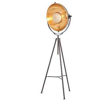 Baldwyn Floor Lamp, Bronze/ Glass - Pottery Barn