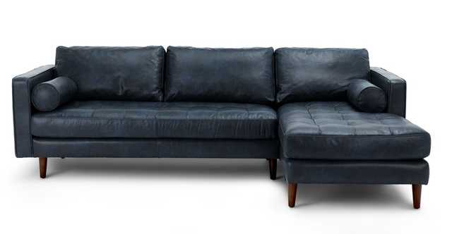 Sven Oxford Blue Right Sectional Sofa - Article