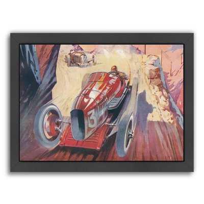 'Vintage Racing Car' Print - Wayfair