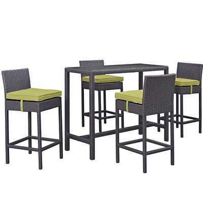 Brentwood 5 Piece Bar Height Dining Set with Cushion - Wayfair