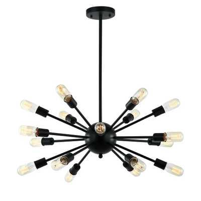 Light Society Sputnik Style Black Chandelier - Home Depot