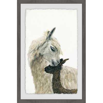'Momma Llama' Framed Watercolor Painting Print - Wayfair