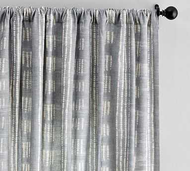"Shibori Dot Drape, Gray, 50"" x 124"" - Pottery Barn"