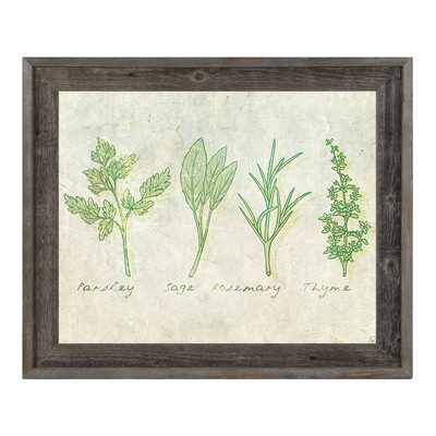 Herbs Framed Painting Print on Wrapped Canvas - Wayfair