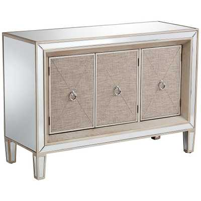 Mira Mirrored 3-Door Accent Cabinet - Style # 16E63 - Lamps Plus