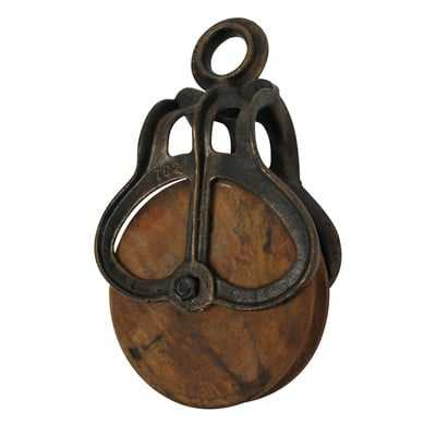 Vintage Wheel Farm Pulley - Wayfair