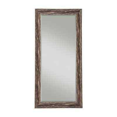 Farmhouse Antique Black Full Length Leaner Mirror - Home Depot