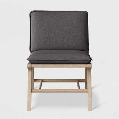Lincoln Cane Chair with Upholstered Seat - Charcoal (Grey) - Threshold - Target