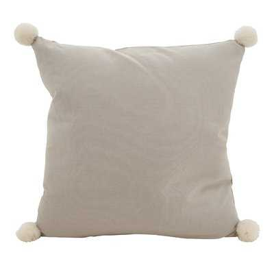 Hugo Pom-Pom Statement Cotton Throw Pillow - Wayfair