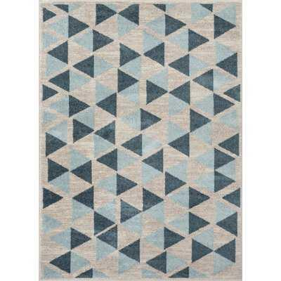 Mystic Simone Modern Vintage Geometric Teal Area Rug - Wayfair