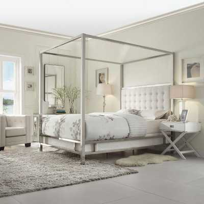 Taraval White King Canopy Bed - Home Depot