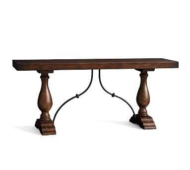 Lorraine Grand Console Table, Rustic Brown - Pottery Barn