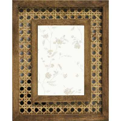 """4""""X6"""" Open Weave Rattan and Wood Frame Brown - Opalhouse - Target"""