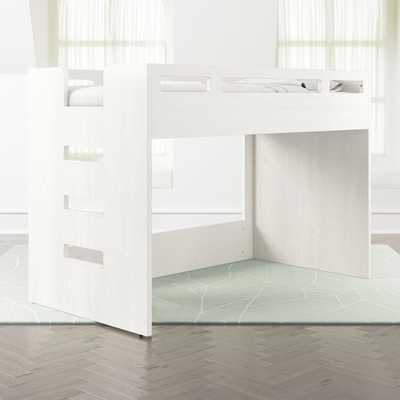 Abridged White Glaze Low Twin Loft Bed with Left Ladder - Crate and Barrel