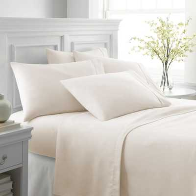 Performance Ivory Twin 6-Piece Bed Sheet Set - Home Depot