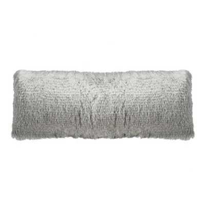 Cali Shag Standard Pillow, Silver - Home Depot