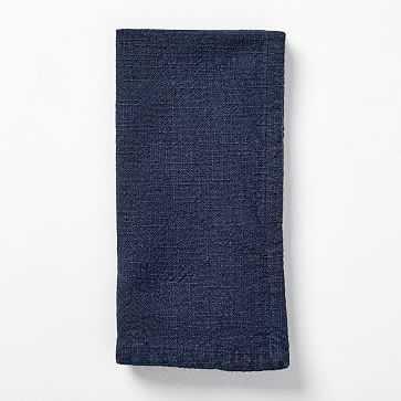 Textured Cotton Napkins, Set of 4, Midnight - West Elm