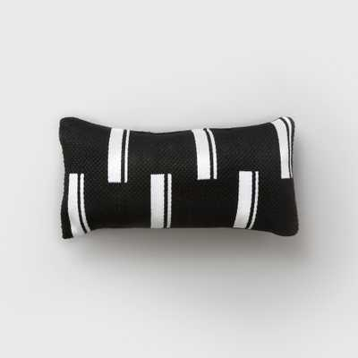 Lumbar Duo Stripe Outdoor Pillow Black/White - Project 62 - Target