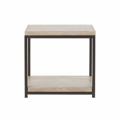 Anjou White Wash End Table - Home Depot