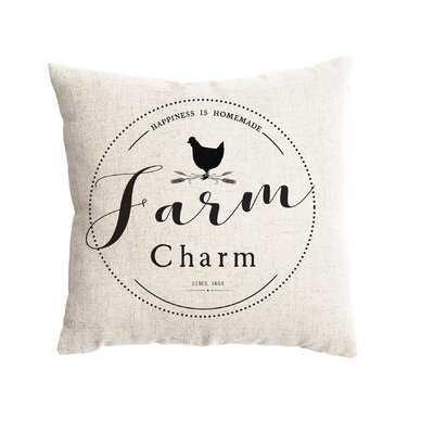 Blue Hill Farm Charm Farmhouse Pillow Cover - Wayfair