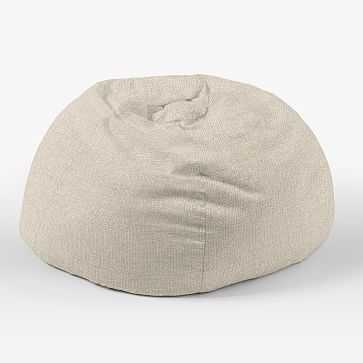 """Bean Bag Collection 42"""" Cover, Pebble Weave, Oatmeal - West Elm"""