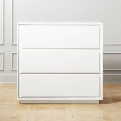 Gallery White 3-Drawer Chest - CB2