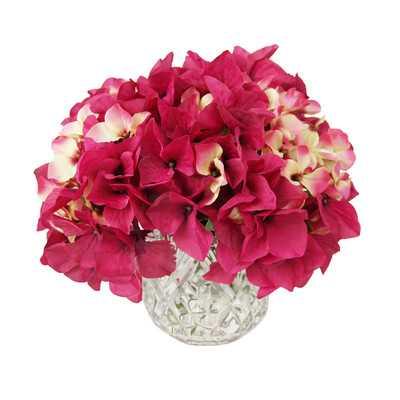 Cylinder Hydrangea Bouquet Crystal Vase - Wayfair