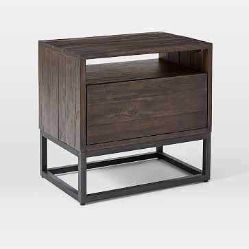 Logan Nightstand, Smoked Brown,individual - West Elm