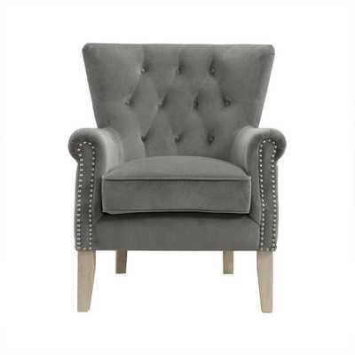 Tilda Gray Accent Chair - Home Depot