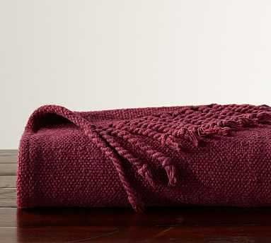 Faye Textured Throw, 50x60 Inches, Claret - Pottery Barn