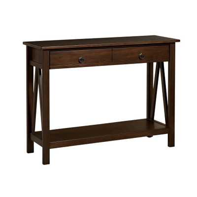 Titian Pine and Painted MDF Antique Tobacco Console Table - Home Depot