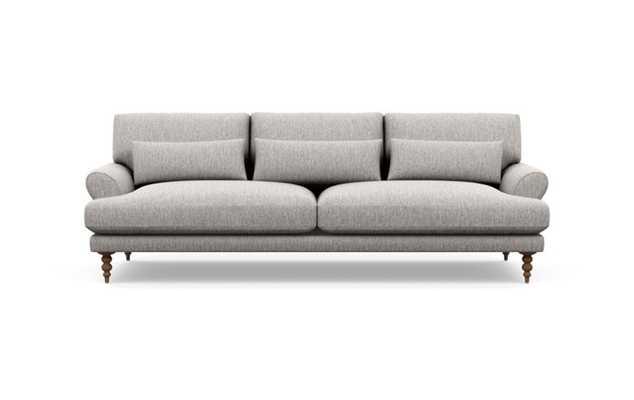 Maxwell Sofa with Earth Fabric and Oiled Walnut legs - Interior Define